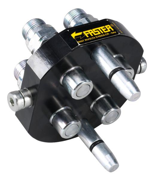 MULTIKUPPLUNG FASTER 2P506M Werkzeugseitig, 4x 15L max. 40l/min. 250 bar