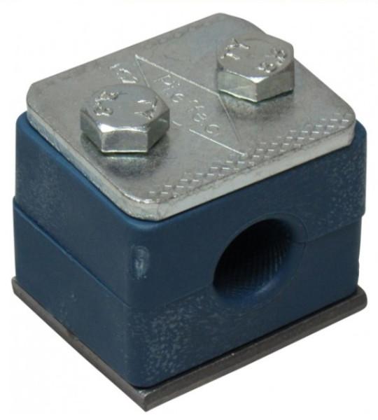 EINROHRSCHELLE 22mm komplett GR3 einfach mit 2 Schellenkörper Deckpl.Anschweißpl.Schrauben
