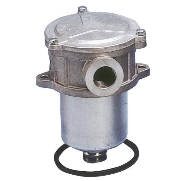 RÜCKLAUFFILTER für Tankeinbau komplett mit Filtereinsatz 10mµ mit Bypass-Ventil bis 60 Liter Ansc
