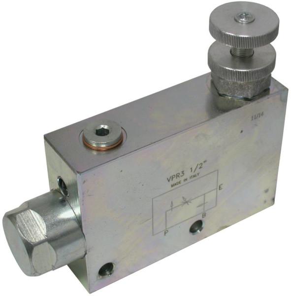 """3 WEGE STROMREGELVENTIL 3/4"""" Stahl, max. 350 bar Eingang max. 120 l/min. Regelstrom max. 100 l/mi"""